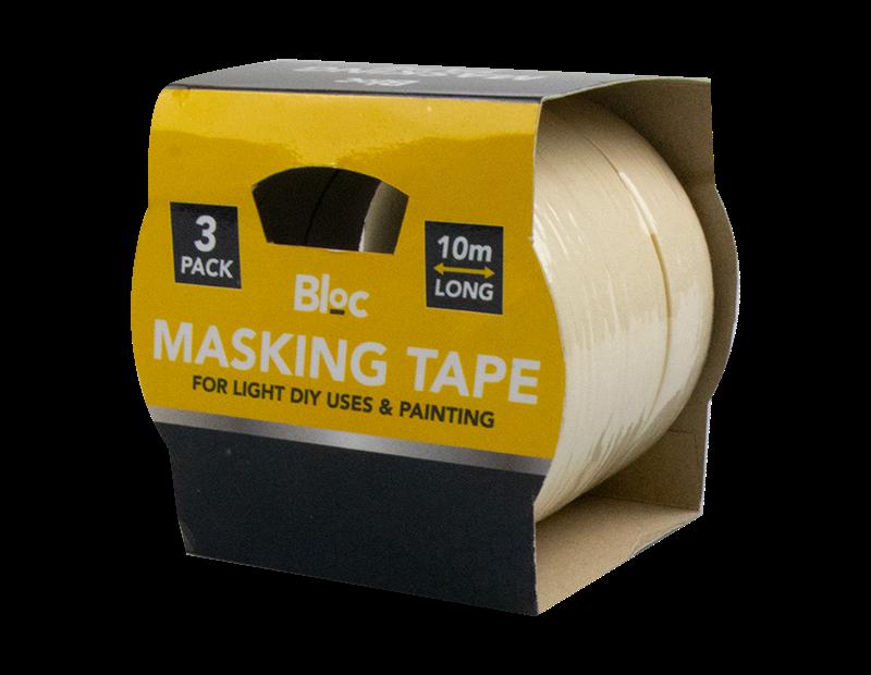 Masking Tape 10m - 3 Pack