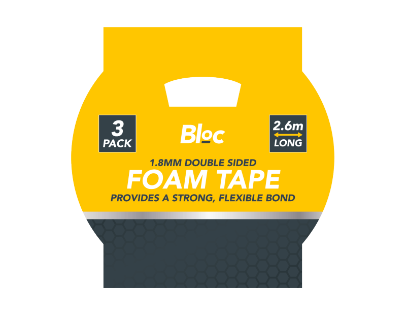 Double Sided Foam Tape - 3 Pack