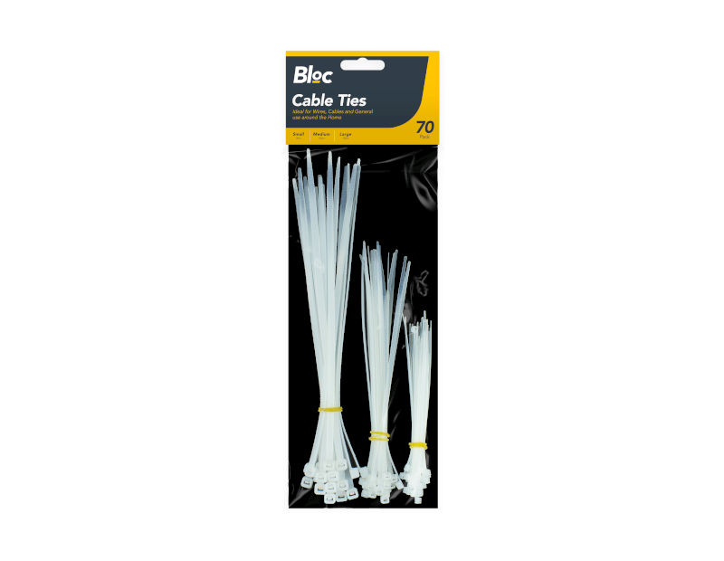 Cable Ties - 70 Pack