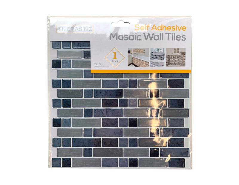 Grey Self Adhesive Mosaic Wall Tile