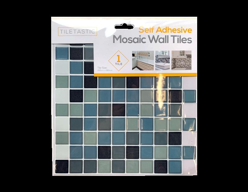 Blue Self Adhesive Mosaic Wall Tile