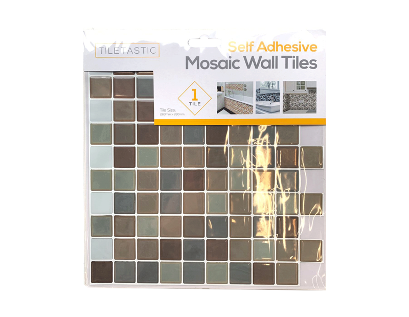 Brown Self Adhesive Mosaic Wall Tile