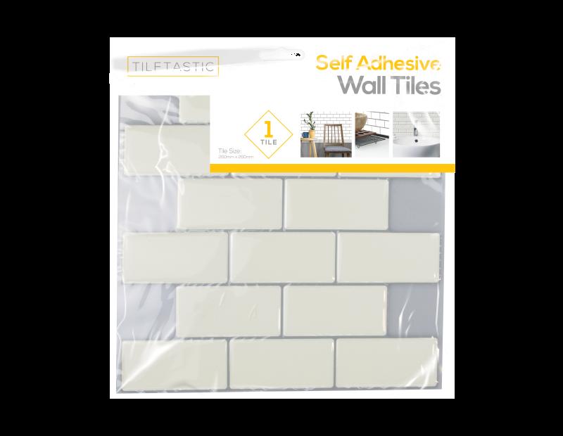 White Brick Wall Tile Sticker