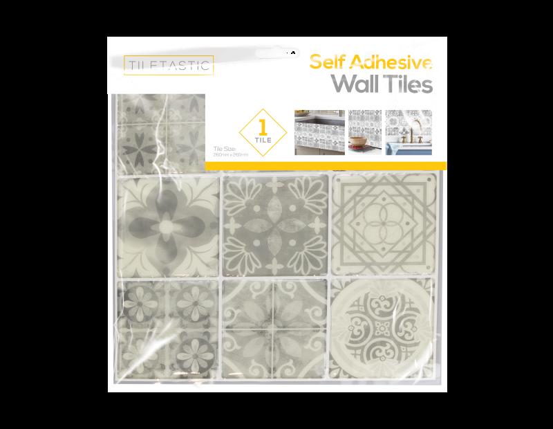 Grey Mosaic Patterned Wall Tile Sticker