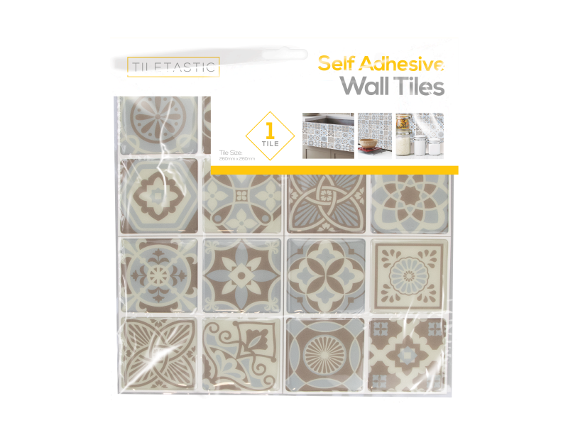 Blue and Grey Mosaic Patterned Wall Tile Sticker