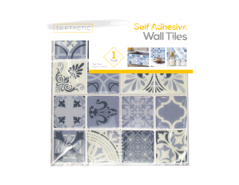 Blue Mosaic Patterned Wall Tile Sticker