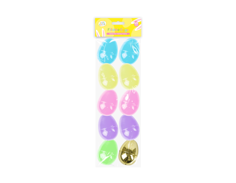 Easter Fillable Eggs - 10 Pack