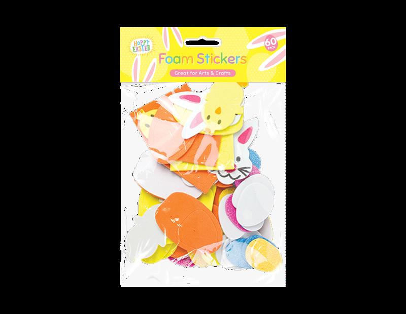 Easter EVA Foam Stickers - 60 Pack