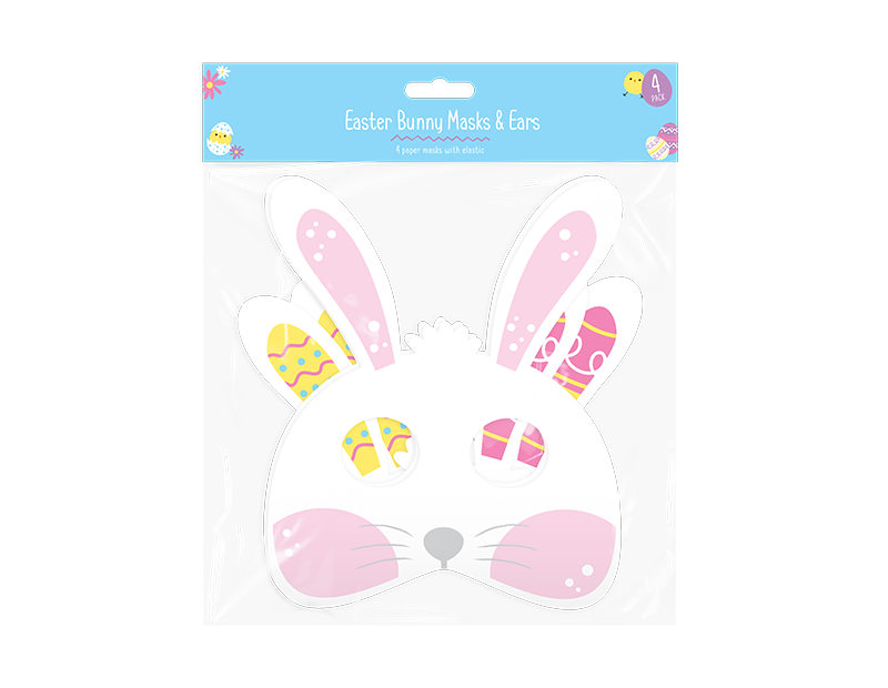 Easter Bunny Paper Mask & Ears - 4 Pack