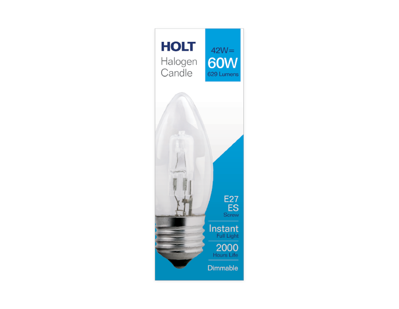 Halogen Clear Candle Light Bulb 42w