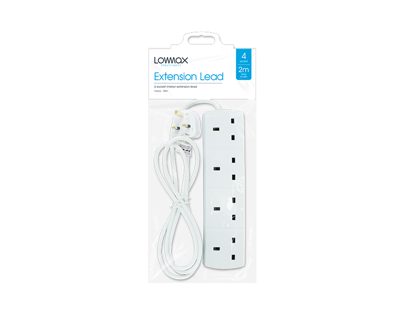 4 Socket Extension Lead 2m