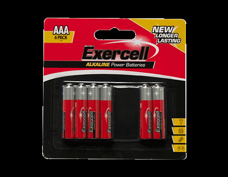 Alkaline AAA Batteries - 6 Pack