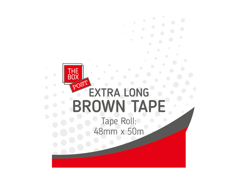 Extra Long Brown Tape 50m