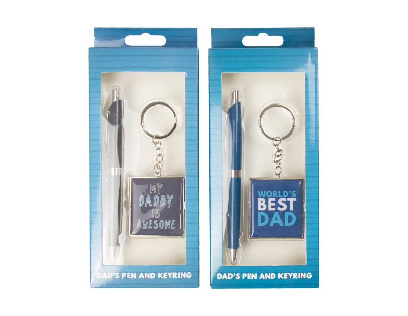 Fathers Day Pen & Keychain Gift Set