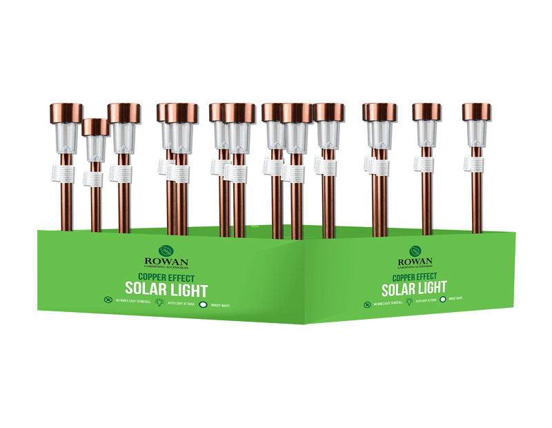 Copper Look Solar Stake Light PDQ