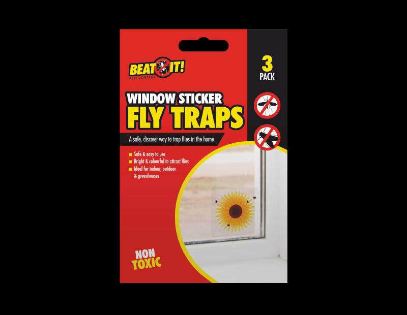 Window Sticker Fly Traps - 3 Pack