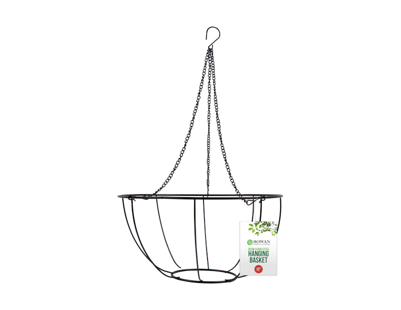 Metal Hanging Basket & Chain