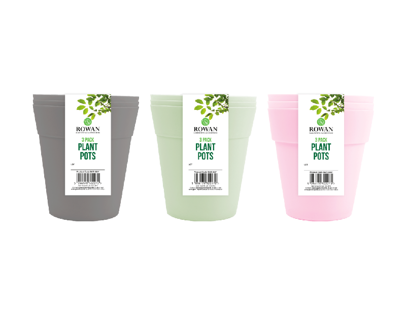 Plant Pots 13cm - 3 Pack
