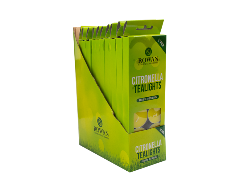 Citronella Tealights - 12 Pack With PDQ