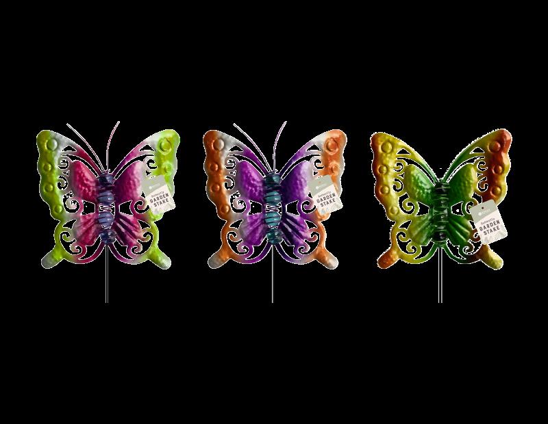 Glass Bead Butterfly Garden Stake
