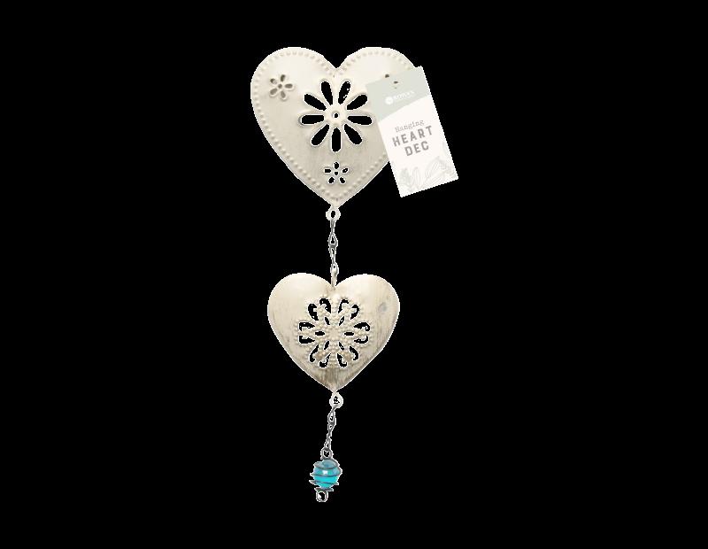 Cream Hanging Heart Decoration