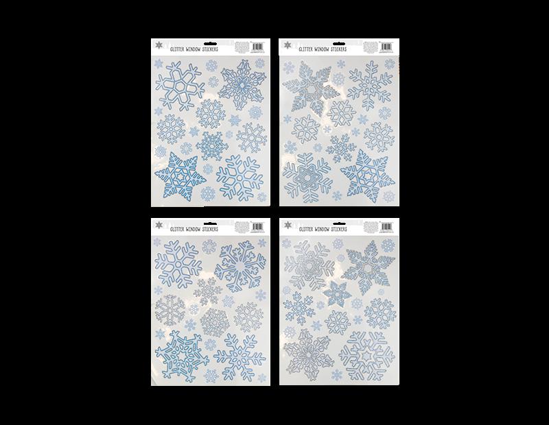 Glitter Snowflake Window Stickers
