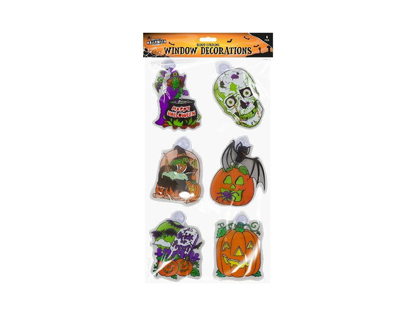 Halloween Window Decorations - 6 Pack
