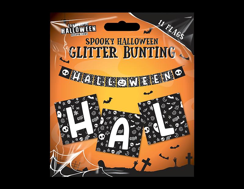 Halloween Glitter Bunting