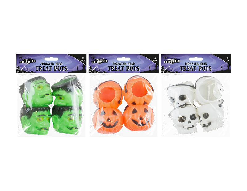 Halloween Treat Pots - 4 Pack
