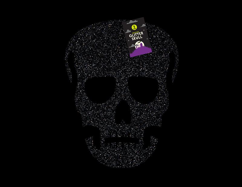 Halloween Glittering Skull