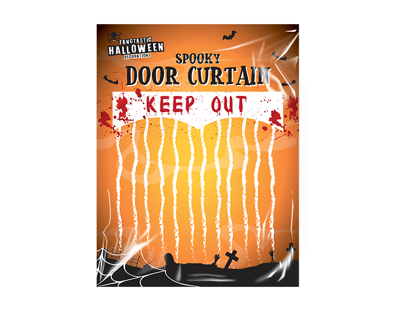 Halloween Keep Out Bloody Curtain
