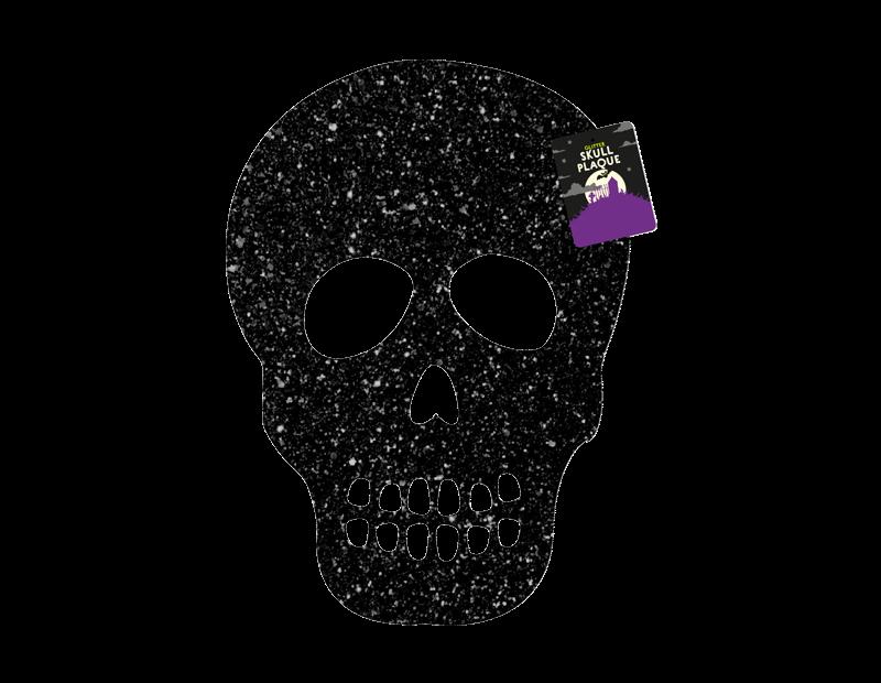 Glittering Skull Plaque