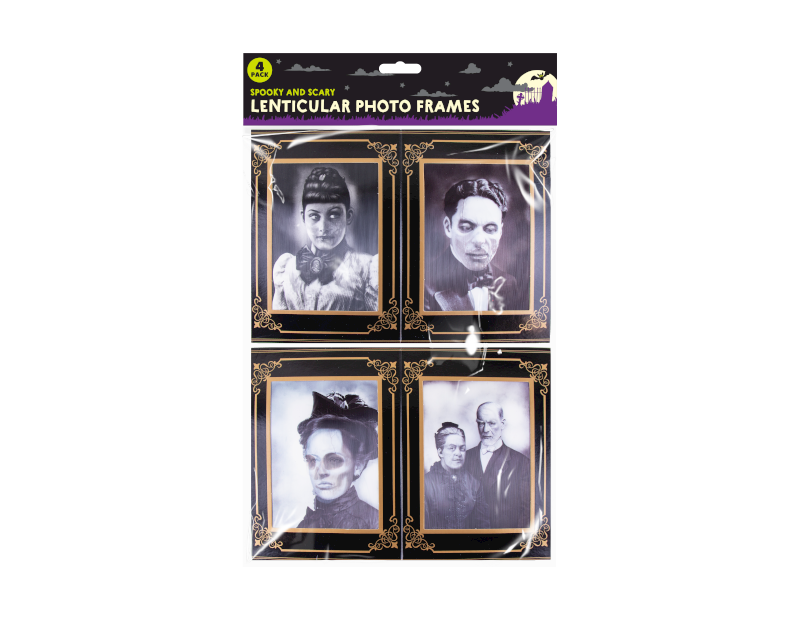 Lenticular Horror Photo Frames - 4 Pack