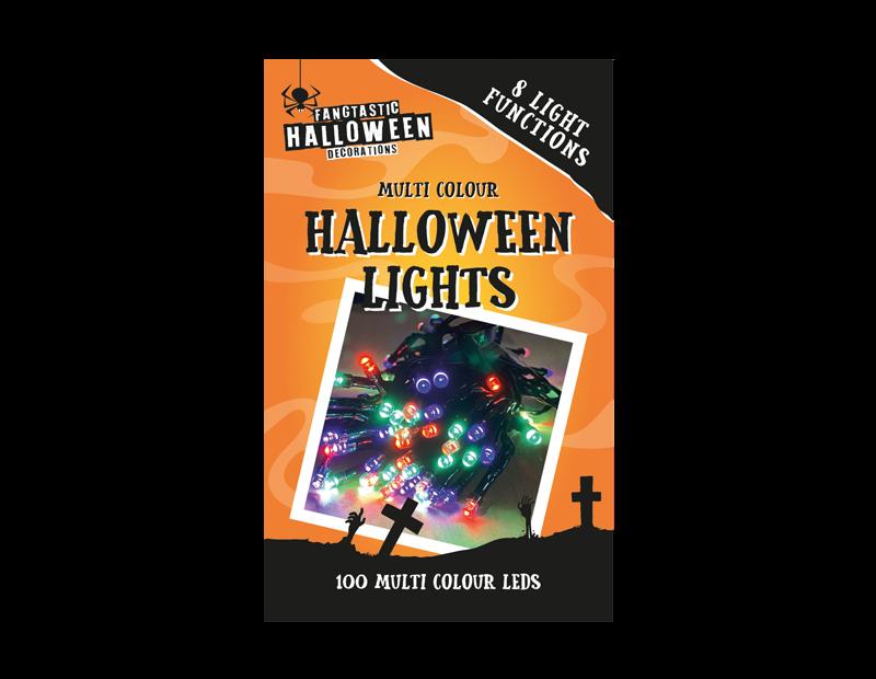 100 LED Multi-Coloured Halloween Lights