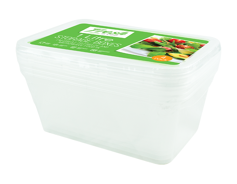 Freezer To Microwave Containers - 4 Pack