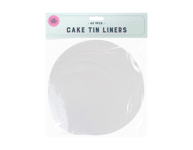 Cake Tin Liners - 40 Pack