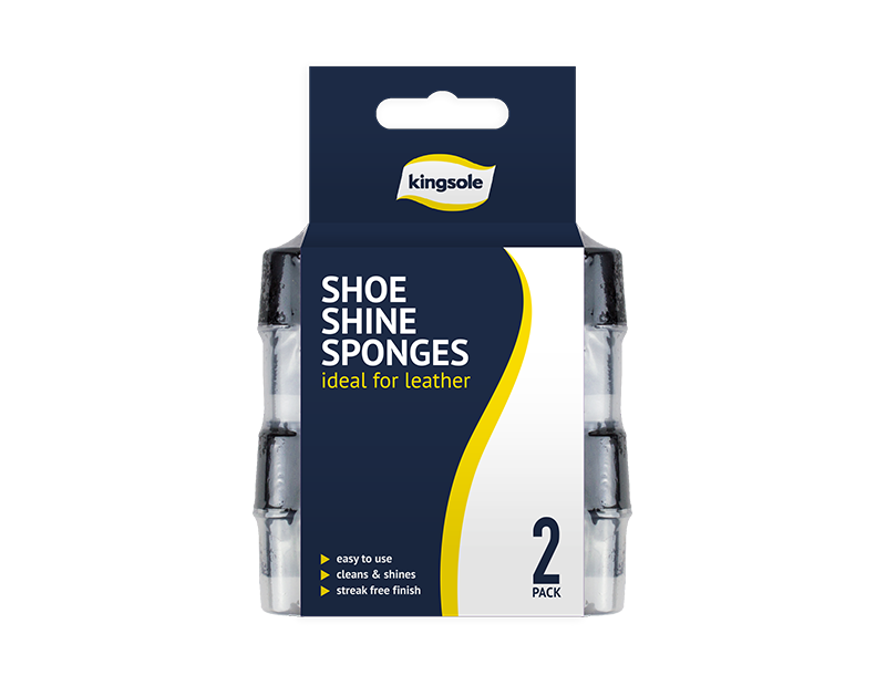 Shoe Shine Sponges - 2 Pack