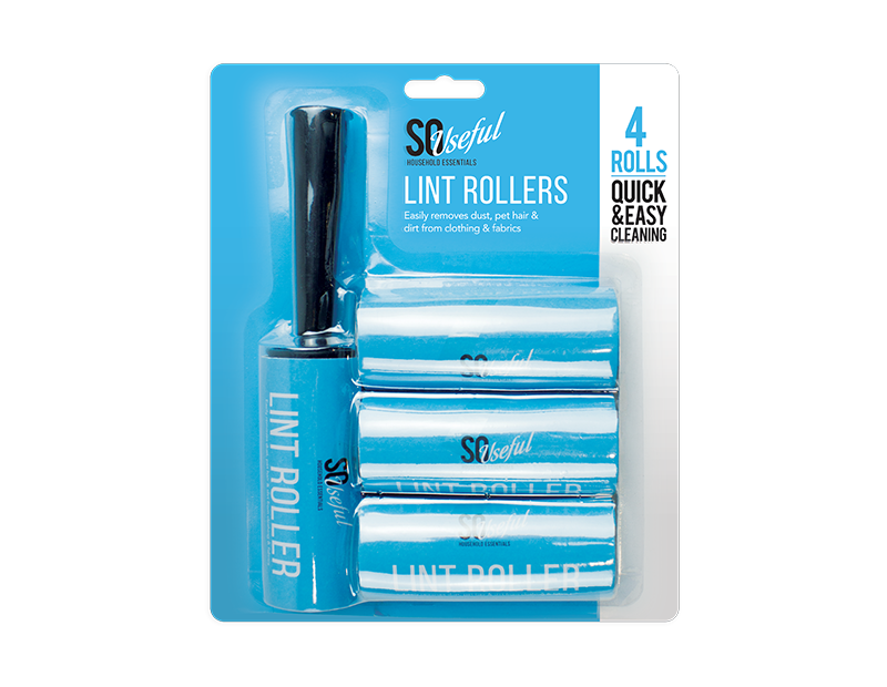 Lint Rollers - 4 Piece