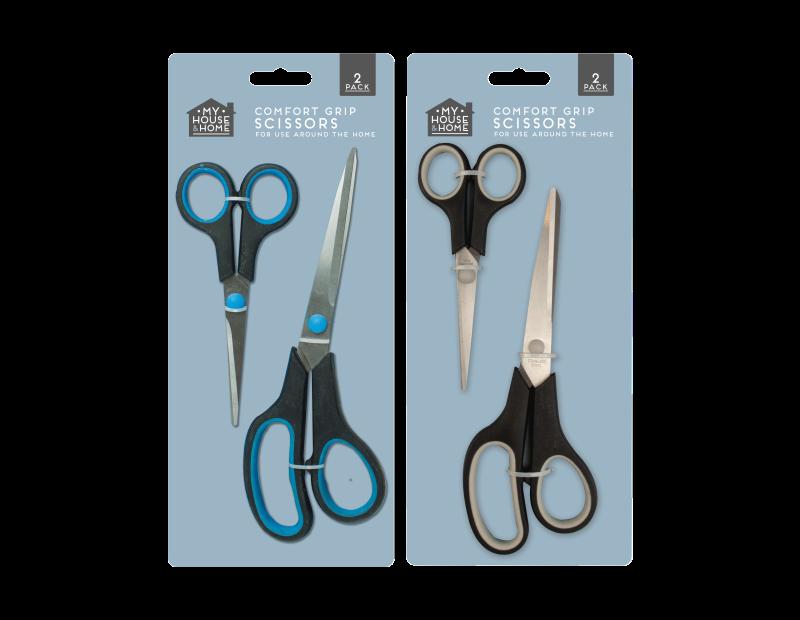 Comfort Grip Scissors - 2 Pack