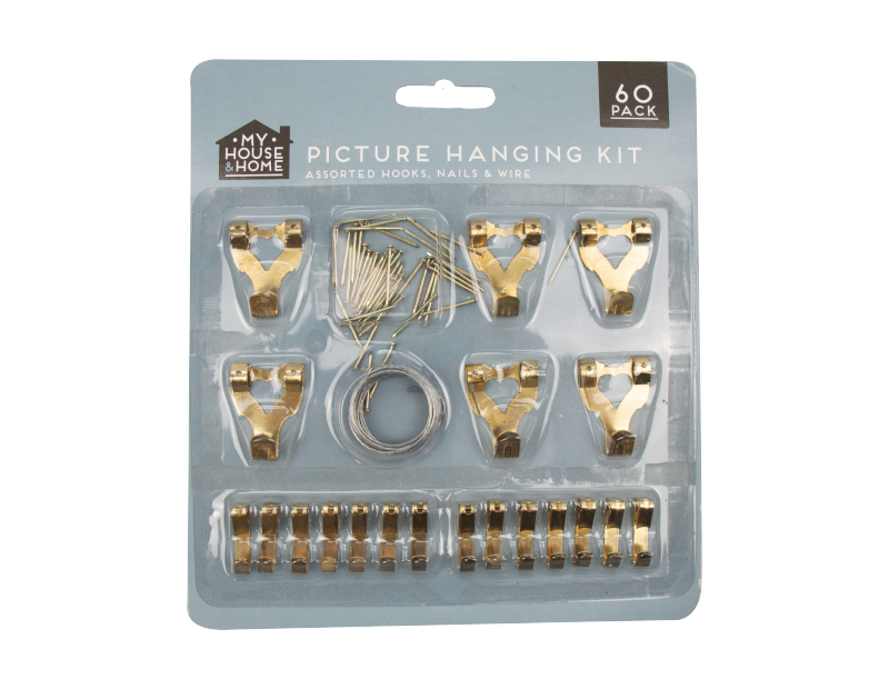 Picture Hanging Kit - 60 Piece