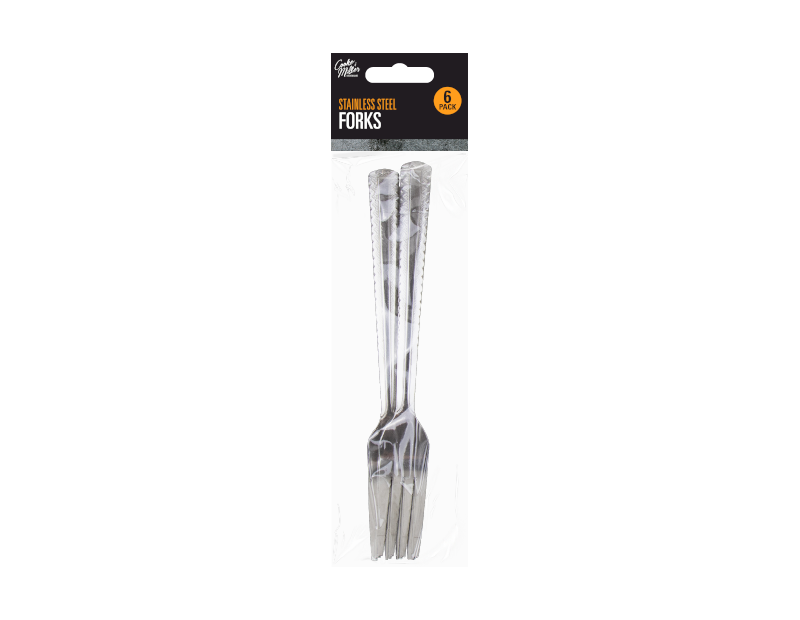 Stainless Steel Forks - 6 Pack