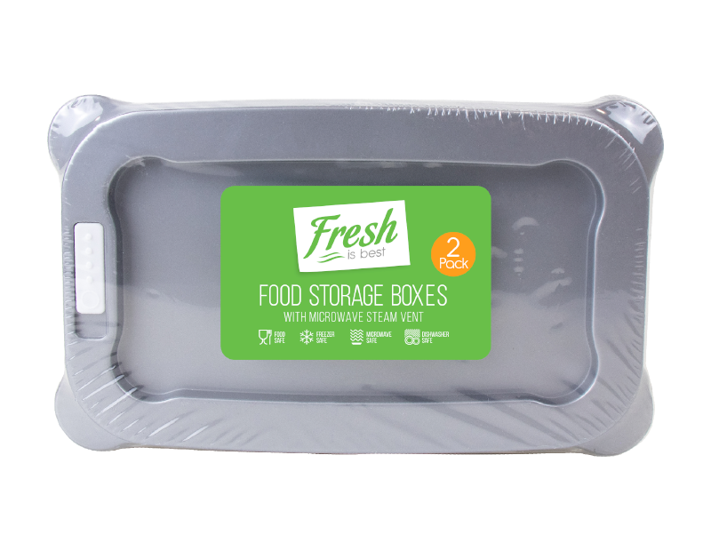 Food Storage Boxes With Vents - 2 Pack