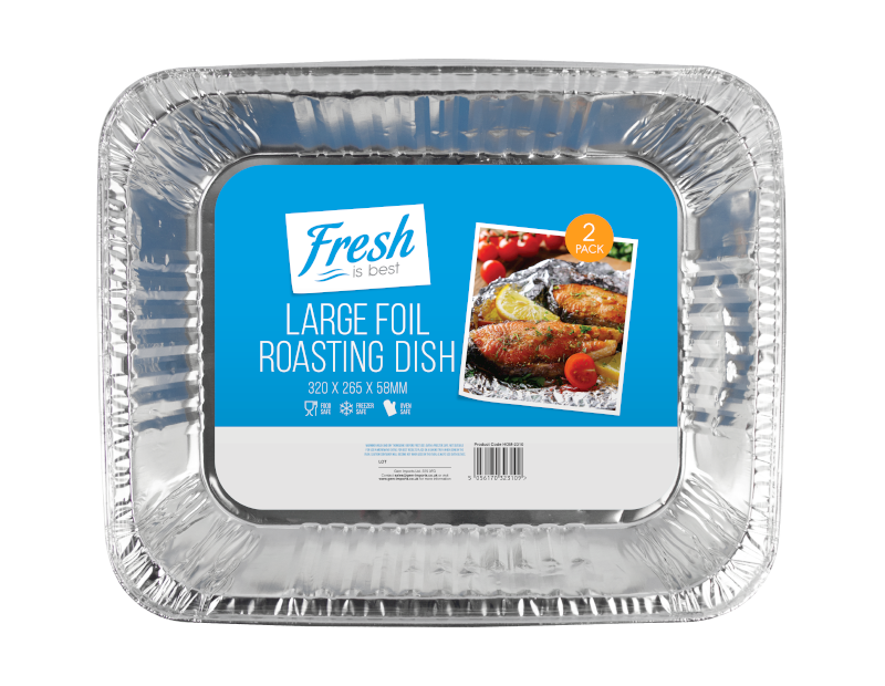 Large Foil Roasting Dishes - 2 Pack