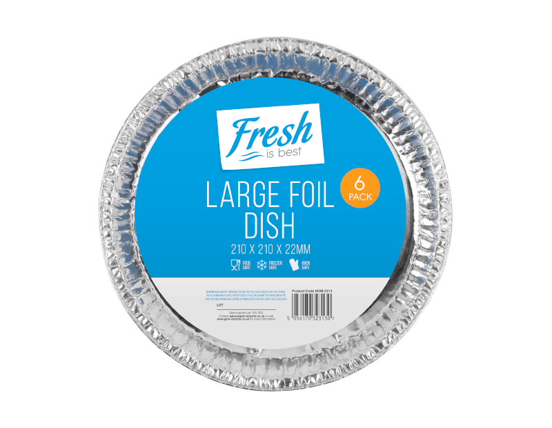 Large Foil Flan Dishes - 6 Pack
