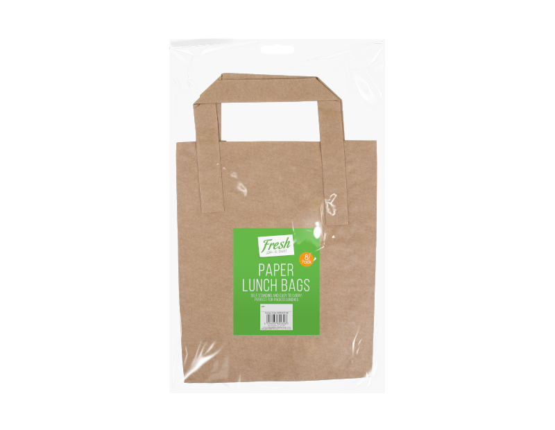 Paper Lunch Bags - 8 Pack