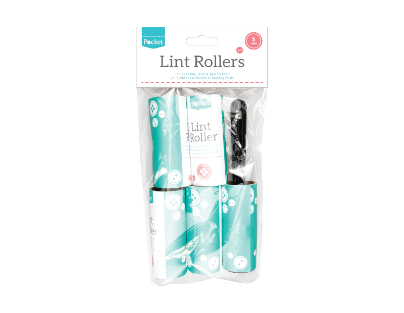 Lint Rollers - 5 Piece