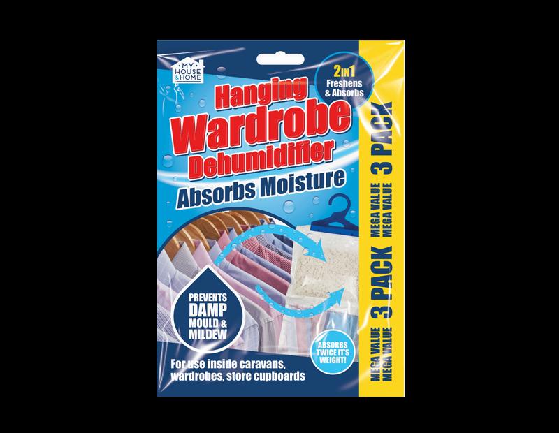 Hanging Wardrobe Dehumidifiers - 3 Pack