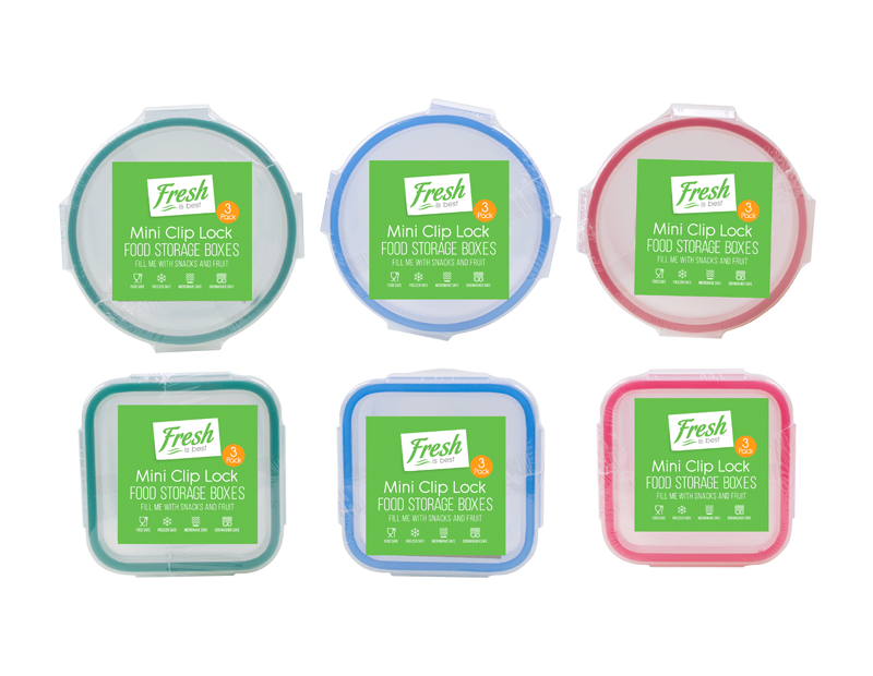 Mini Clip Lock Containers - 3 Pack