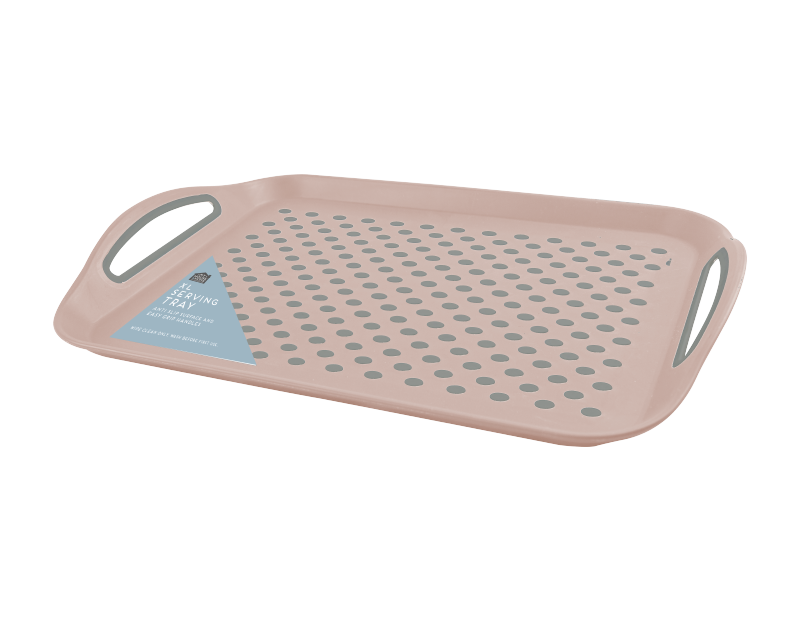 Pink Extra Large Anti Slip Serving Tray