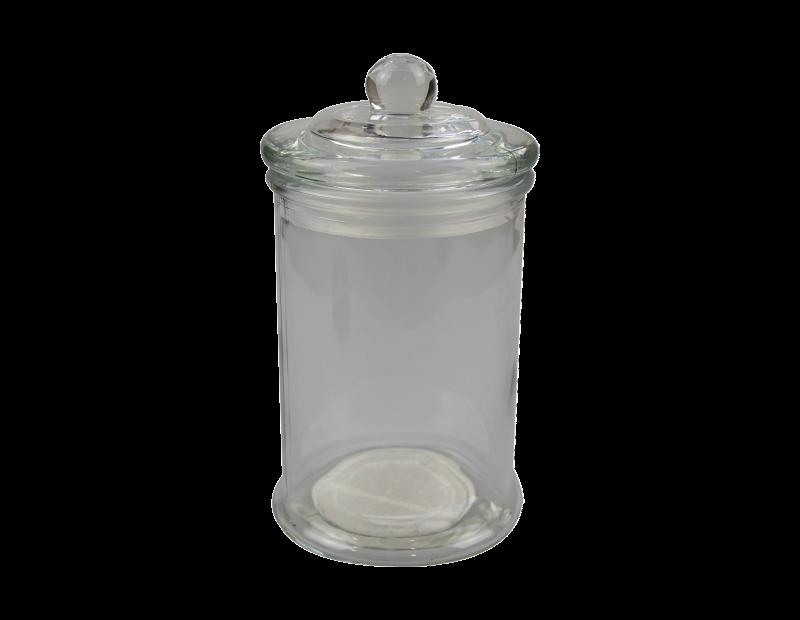 Plain Glass Jar with Lid 650ml